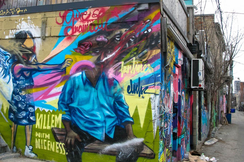 Street art in Toronto: creatief West Queen West
