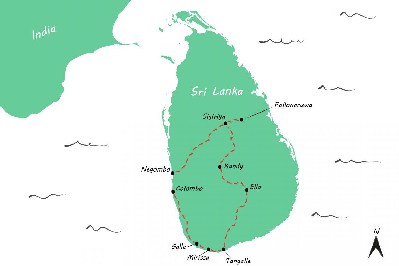 Drie weken backpacken in Sri Lanka: onze reisroute
