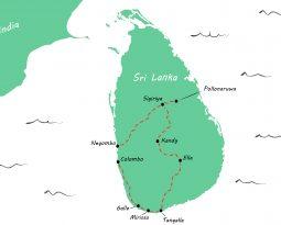 Sri Lanka in drie weken: onze reisroute