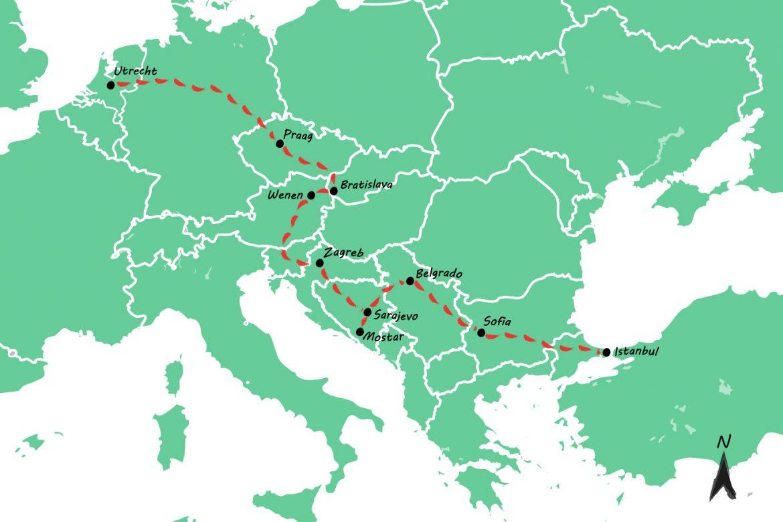 Interrail route: met de trein van Utrecht naar Istanbul