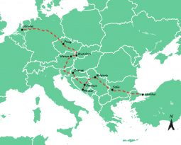 Onze Interrail route: met de trein van Utrecht naar Istanbul