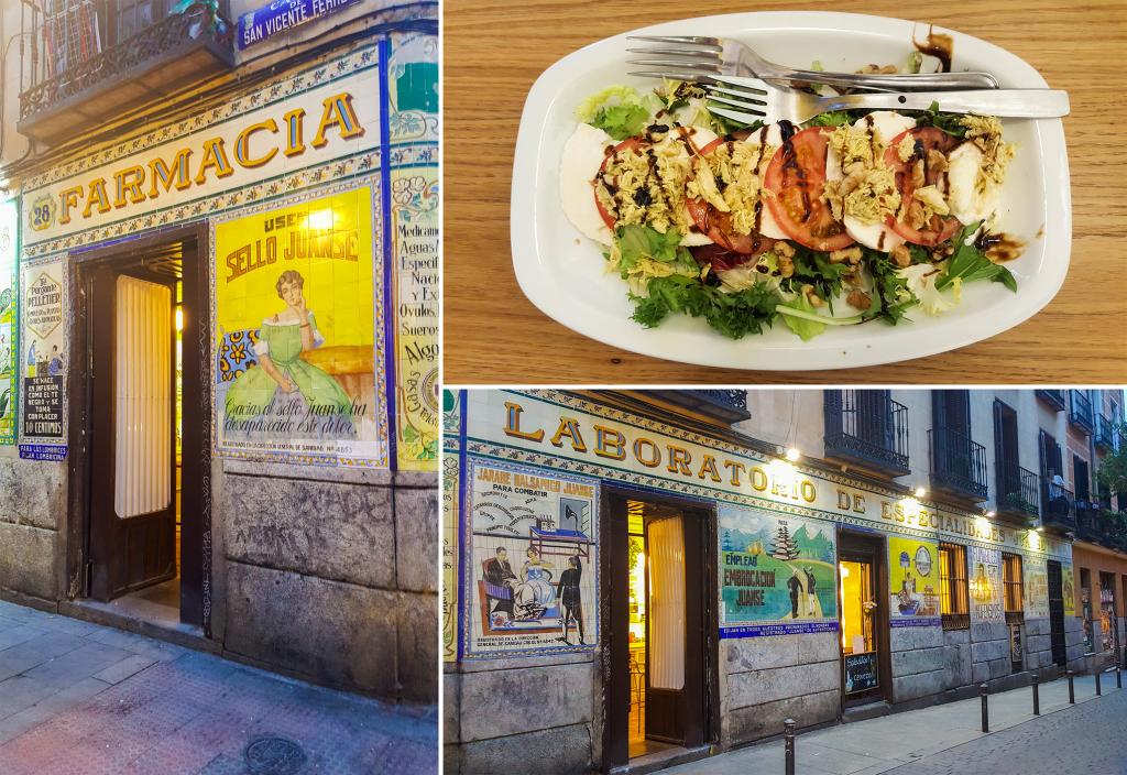 eten in Madrid bij restaurant Pharmacia