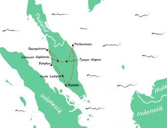 Backpack route door Maleisië: een rondreis van 3 weken + praktische tips