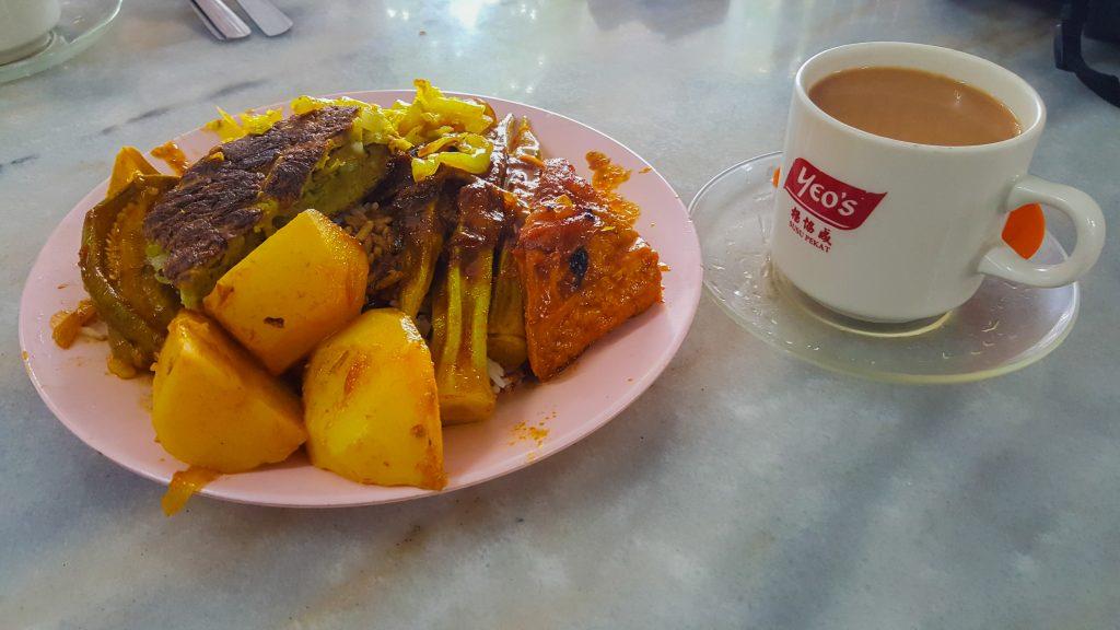 gerechten uit Maleisië - Nasi Kandar
