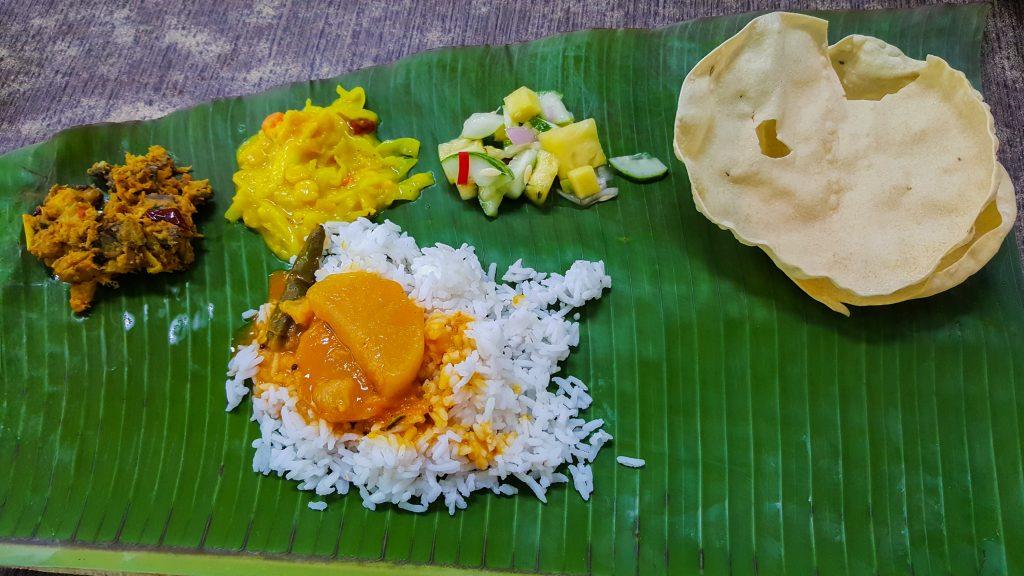 gerechten uit Maleisië - Banana Leaf Curry