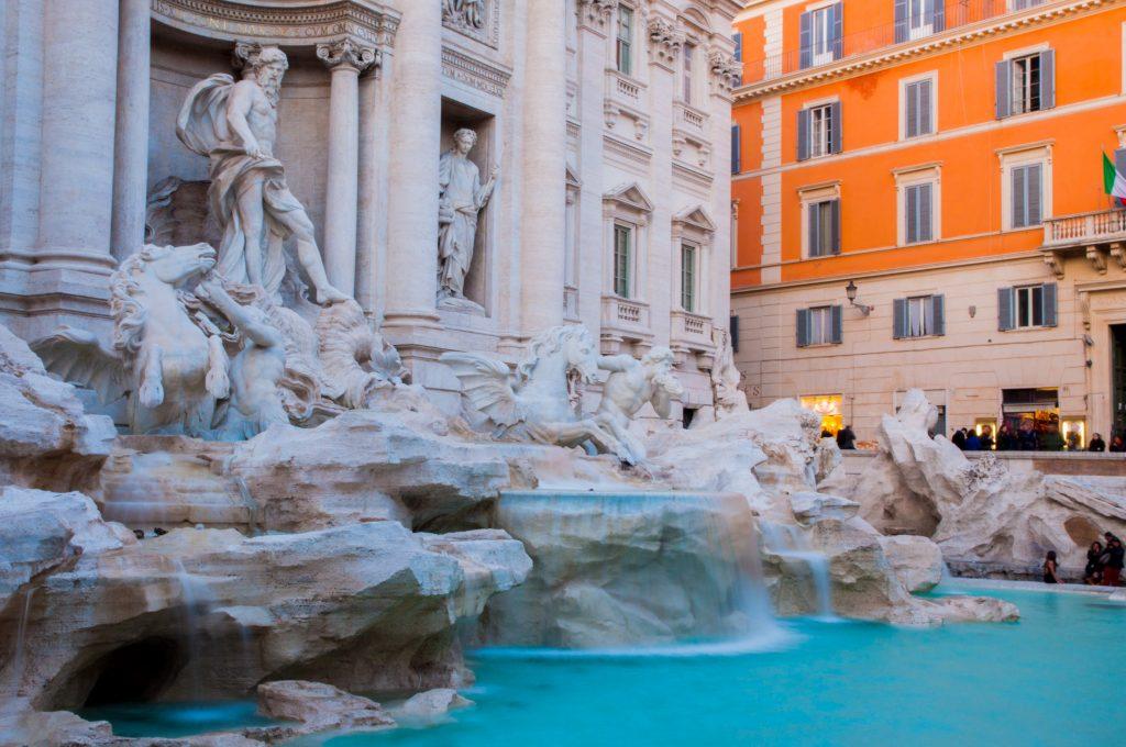 statief meeneem op reis - Trevi fontein in Rome