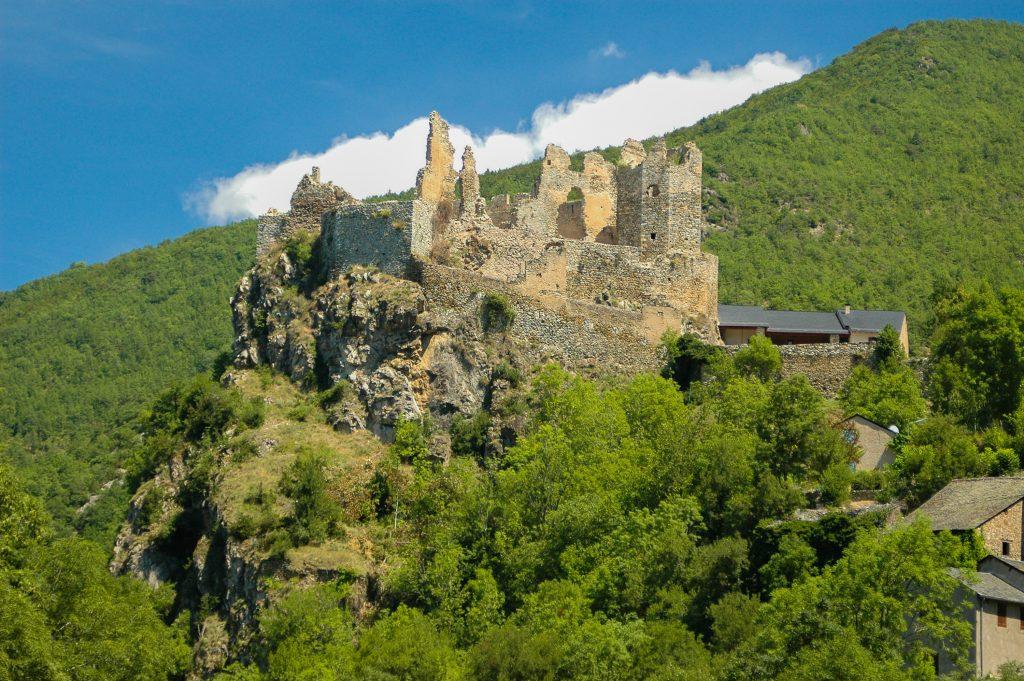katharenburchten in de Franse Pyreneeën - Kasteel Roquefixade