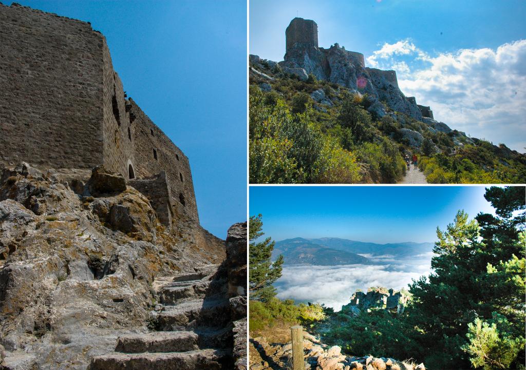 katharenburchten in de Franse Pyreneeën - Kasteel Quéribus