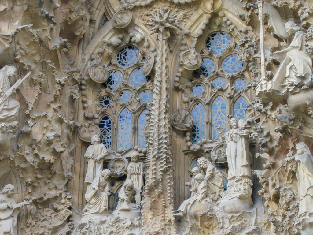 Madrid of Barcelona - details Sagrada Familia Barcelona