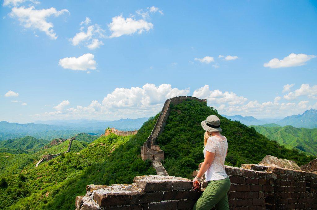 Chinese Muur vanuit Beijing