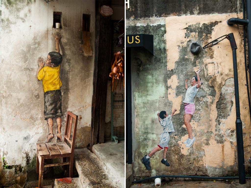 wat te doen in Maleisië - streetart in Georgetown