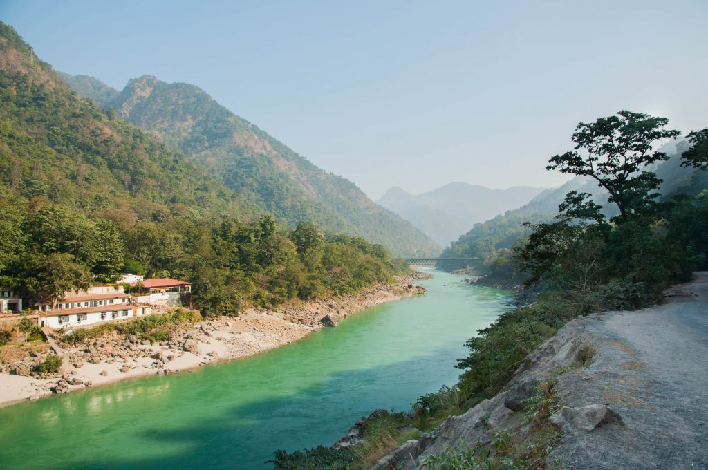 Eerste keer India- de Ganges in Rishikesh