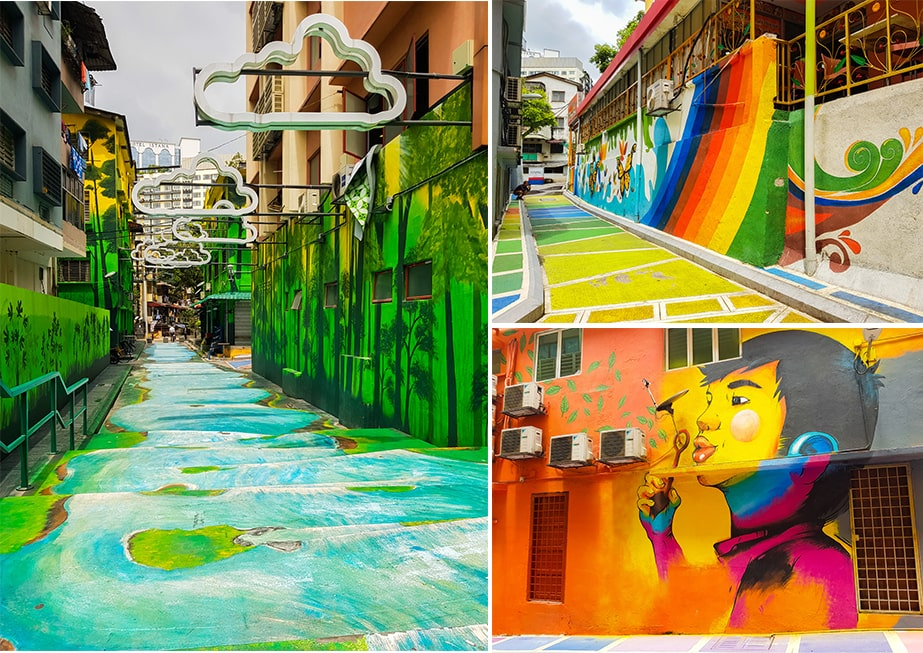 de leukste wijken in Kuala Lumpur - streetart Bukit BintangBukit Bintang