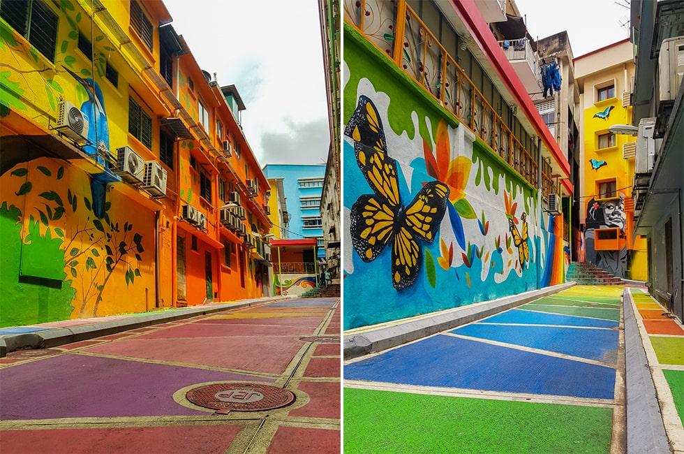 wijken in Kuala Lumpur - streetart Bukit Bintang