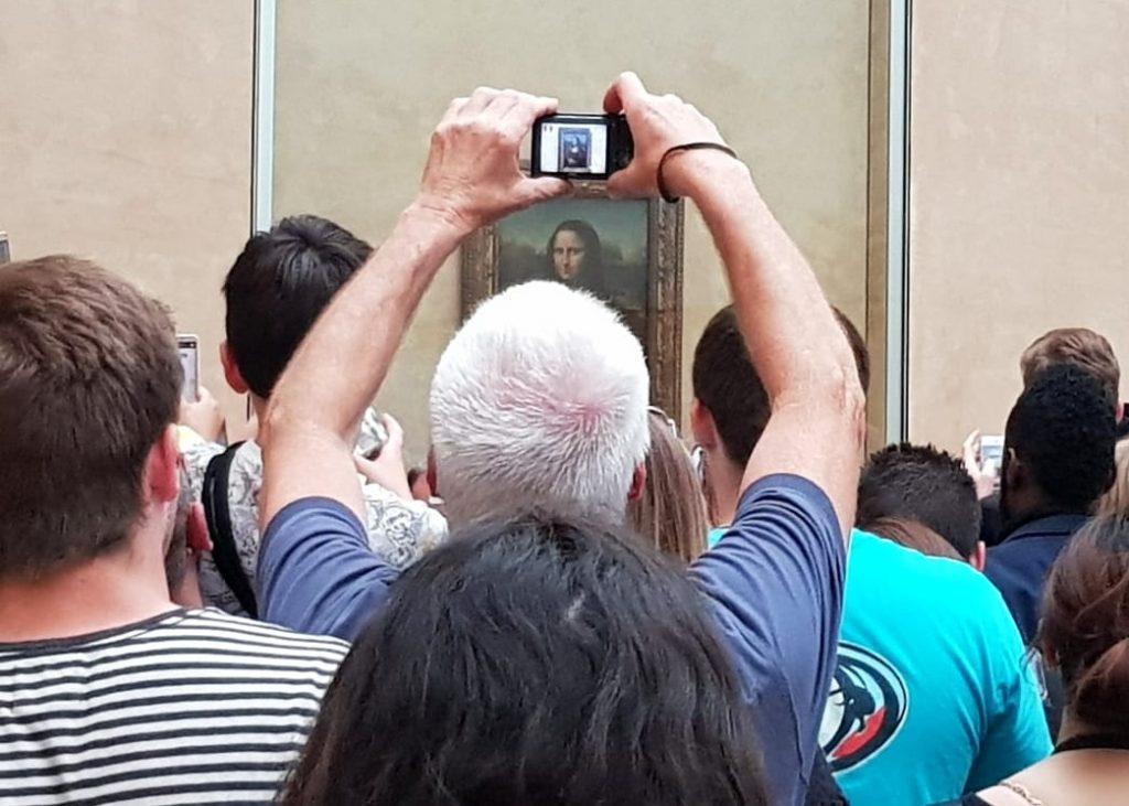 bezoek aan het Louvre