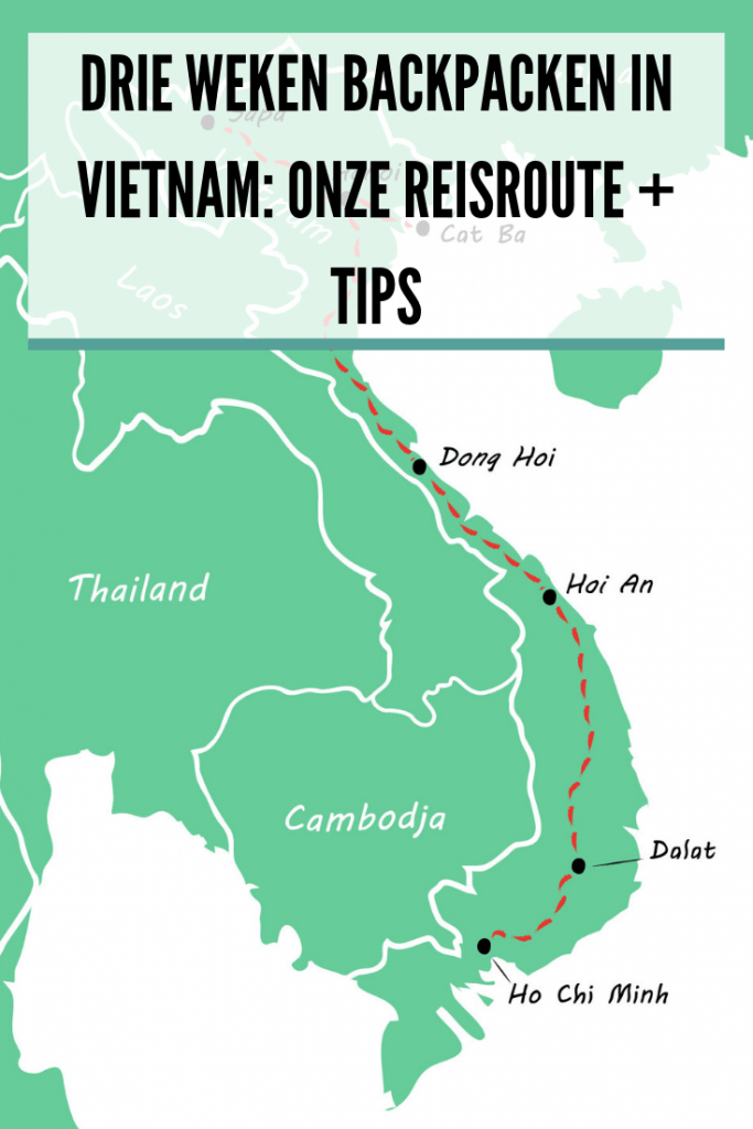 route Vietnam 3 weken