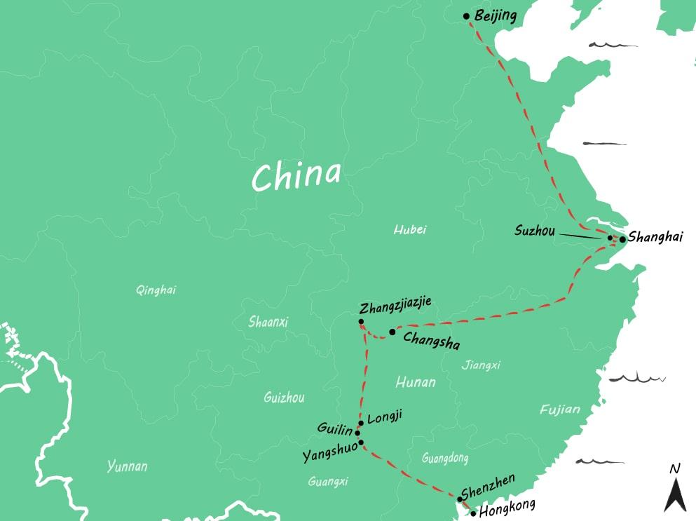 Route China 4 weken