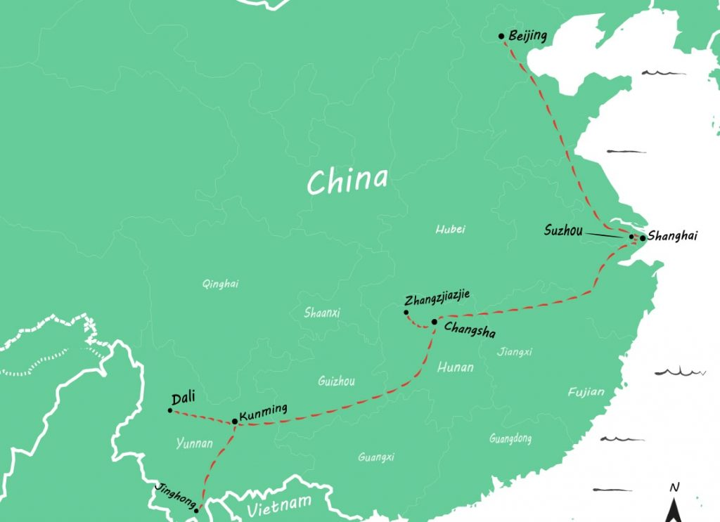 Route China 4 weken