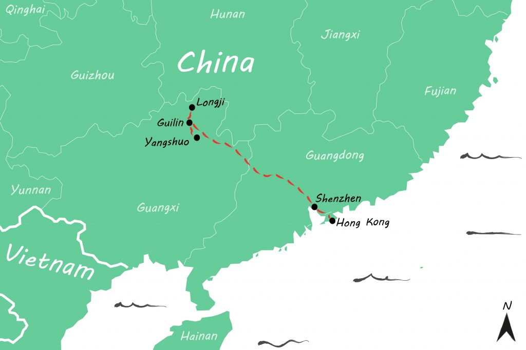 Route China 2 weken